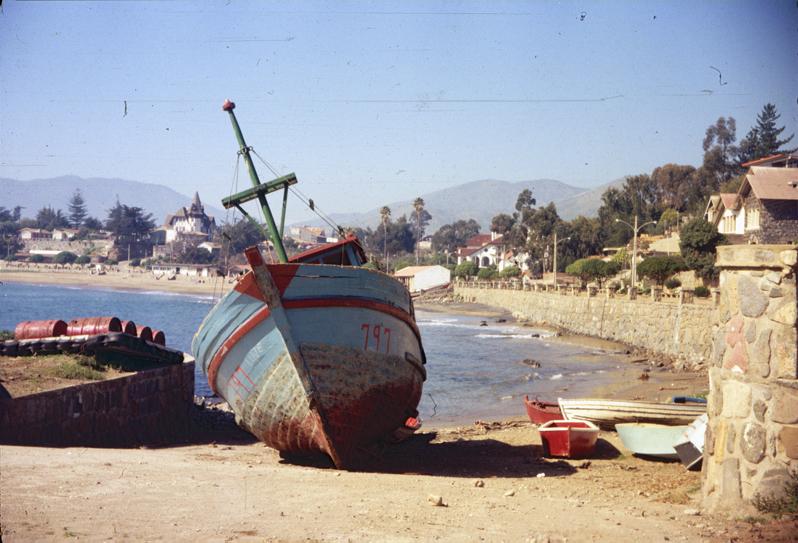 Enterreno - Fotos históricas de chile - fotos antiguas de Chile - Papudo en 1971