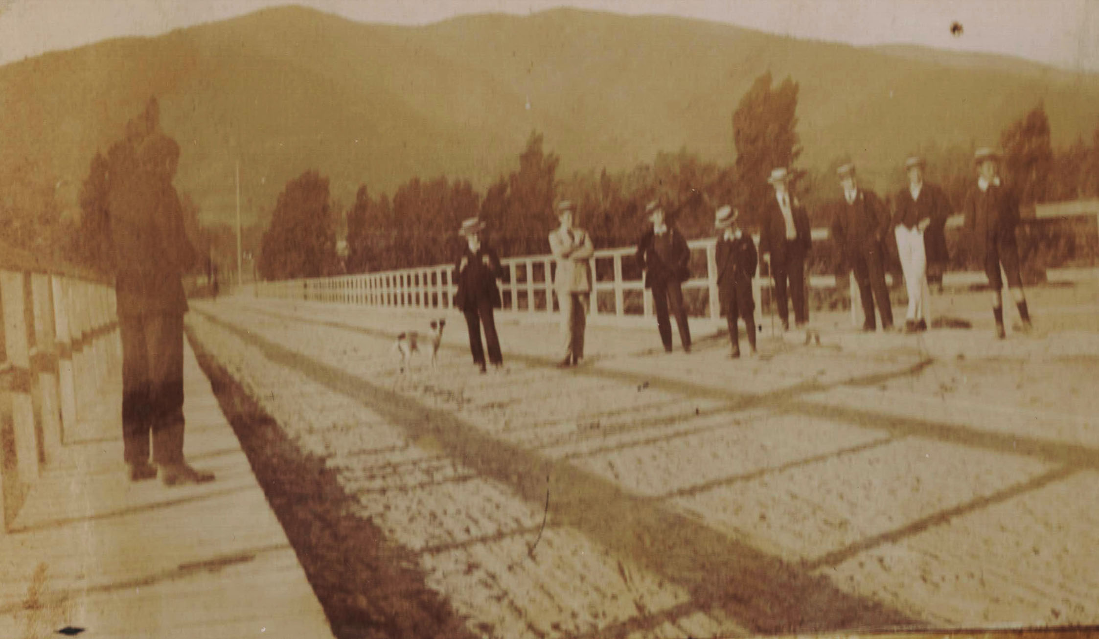 Enterreno - Fotos históricas de chile - fotos antiguas de Chile - Puente desconocido en 1908