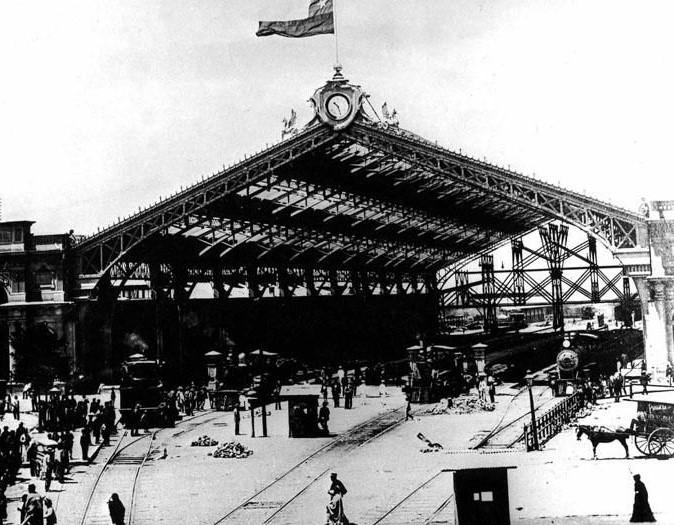 Enterreno - Fotos históricas de chile - fotos antiguas de Chile - Estación Central en 1897