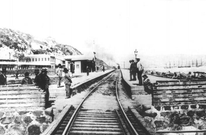 Enterreno - Fotos históricas de chile - fotos antiguas de Chile - Estacion de Tren Matadero en 1900
