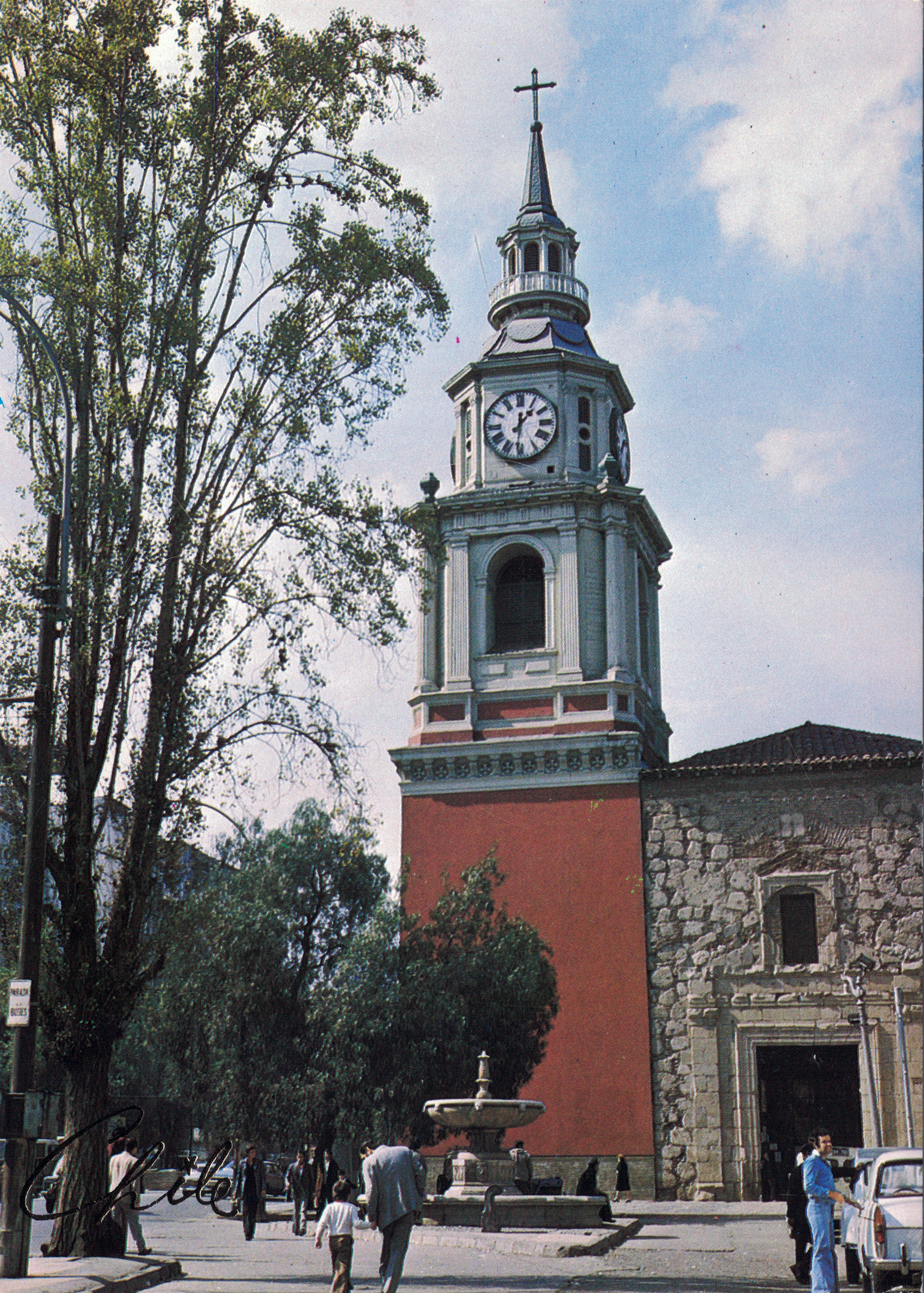 Enterreno - Fotos históricas de chile - fotos antiguas de Chile - Iglesia San Francisco en los años 80s