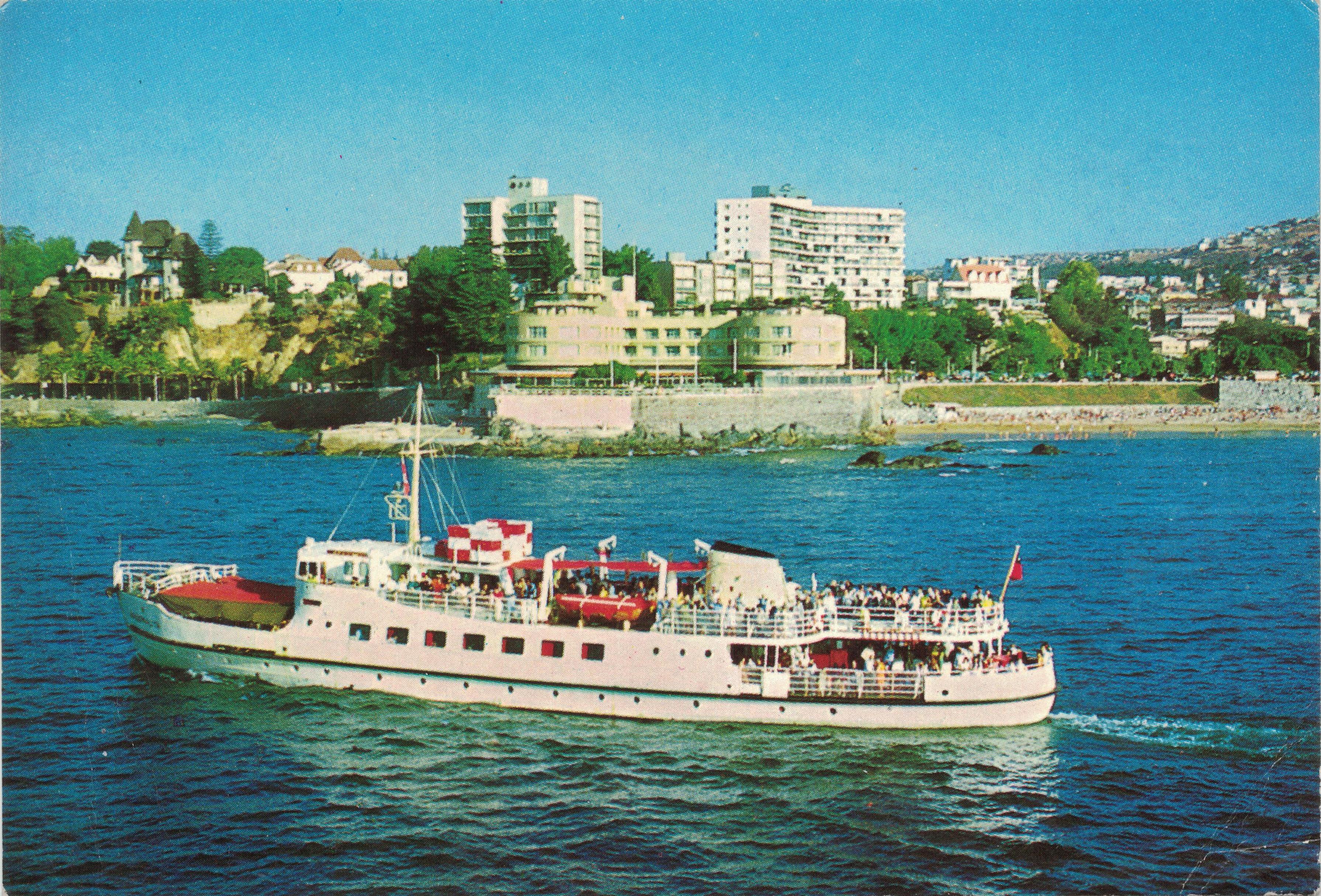 Enterreno - Fotos históricas de chile - fotos antiguas de Chile - Hotel Miramar, vistas desde el mar, Viña Del Mar 1972