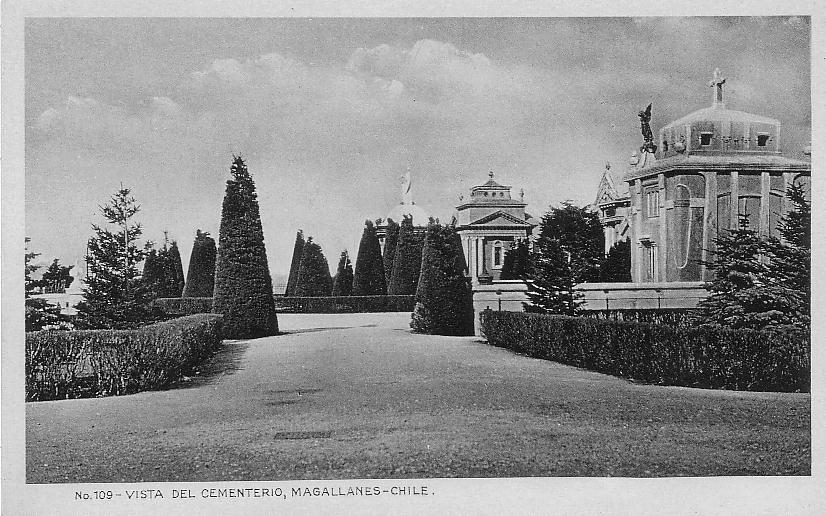 Enterreno - Fotos históricas de chile - fotos antiguas de Chile - Cementerio Municipal de Punta Arenas, años 20