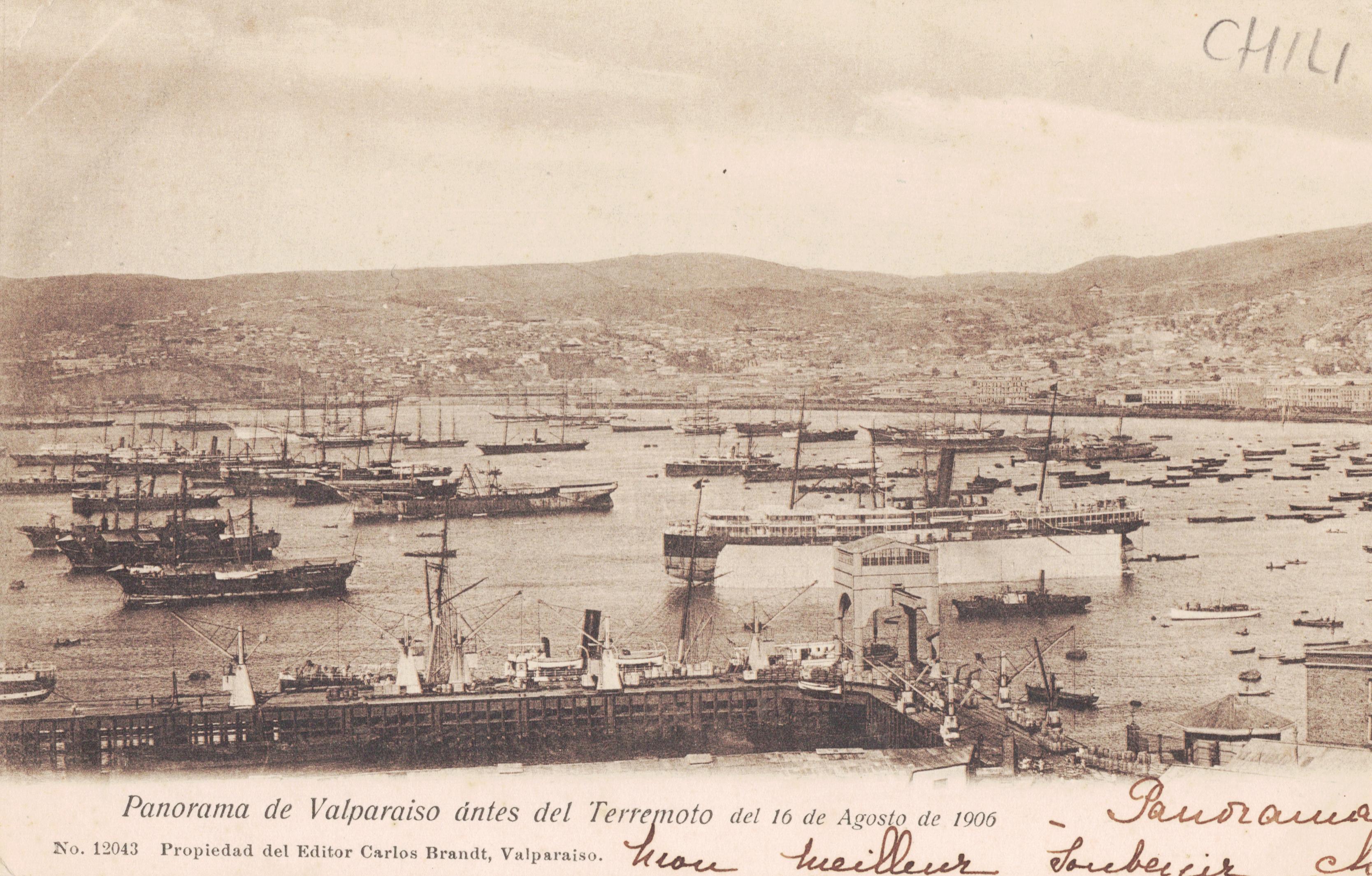 Enterreno - Fotos históricas de chile - fotos antiguas de Chile - Valparaíso antes del terremoto, 1906