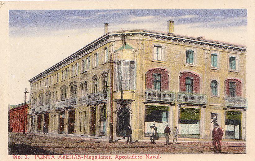 Enterreno - Fotos históricas de chile - fotos antiguas de Chile - Apostadero Naval, Punta Arenas, años 20