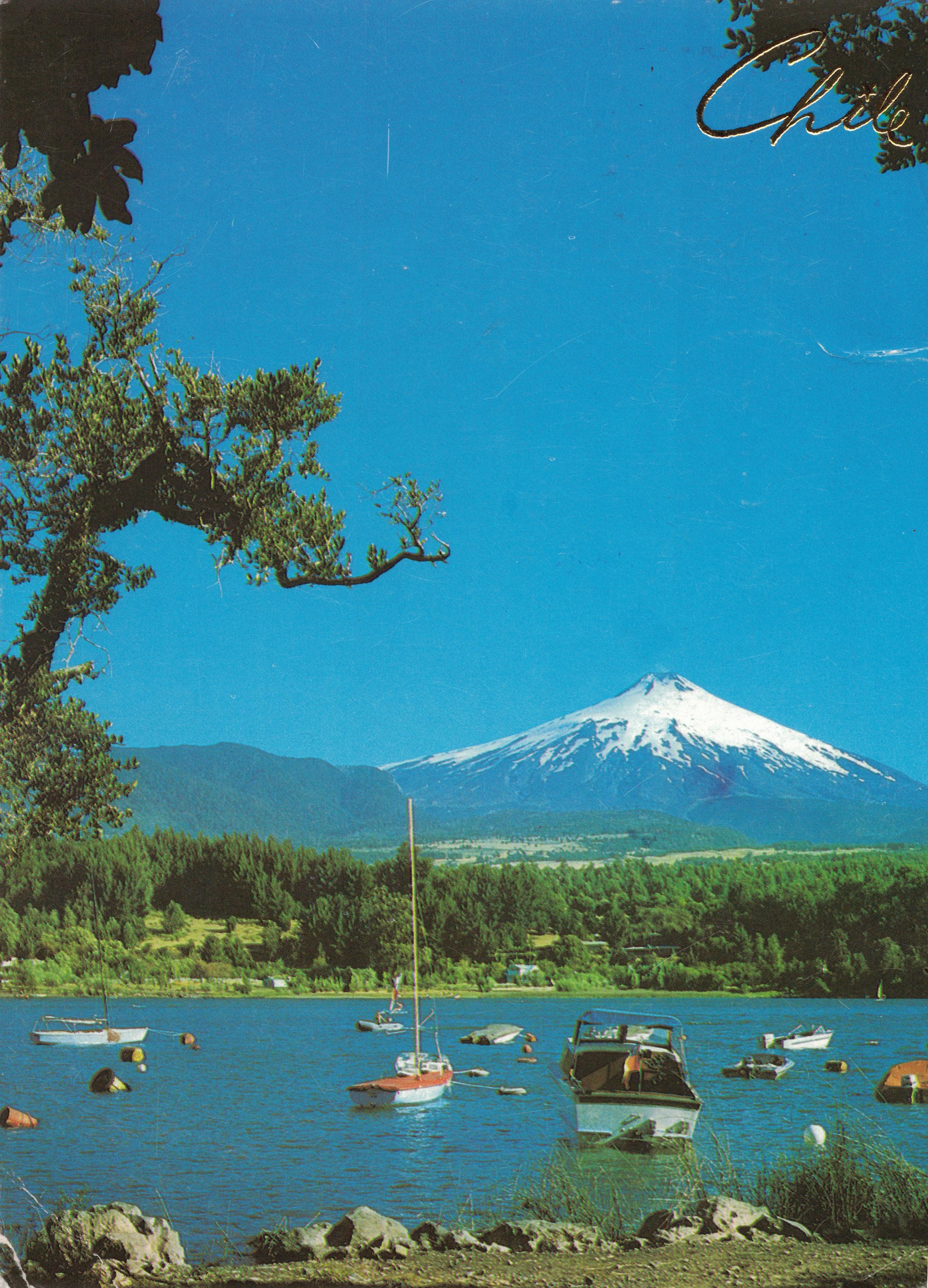 Enterreno - Fotos históricas de chile - fotos antiguas de Chile - Volcán Villarica en el año 1983