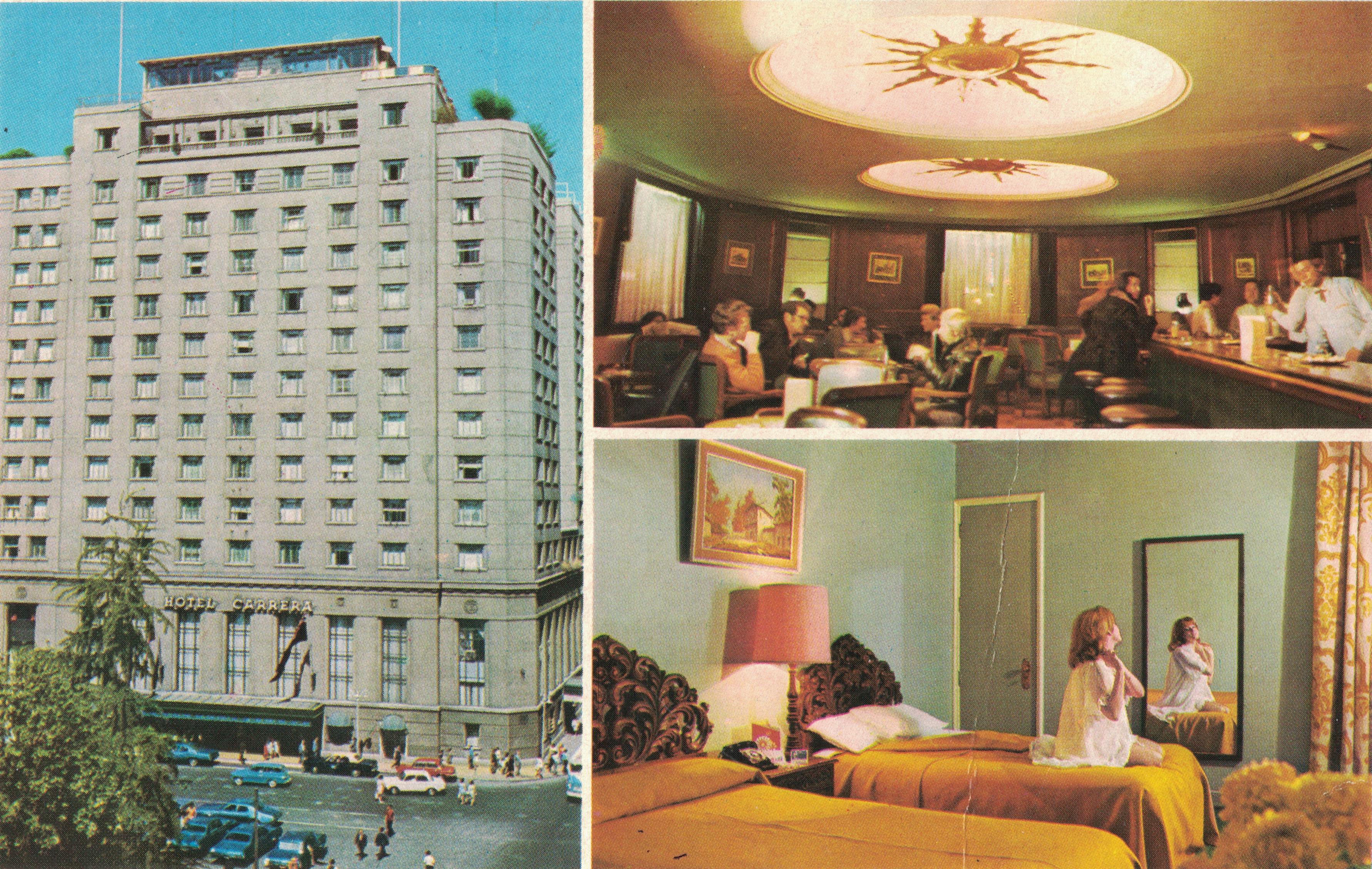 Enterreno - Fotos históricas de chile - fotos antiguas de Chile - Hotel Carrera pieza y bar El Dorado,  1976