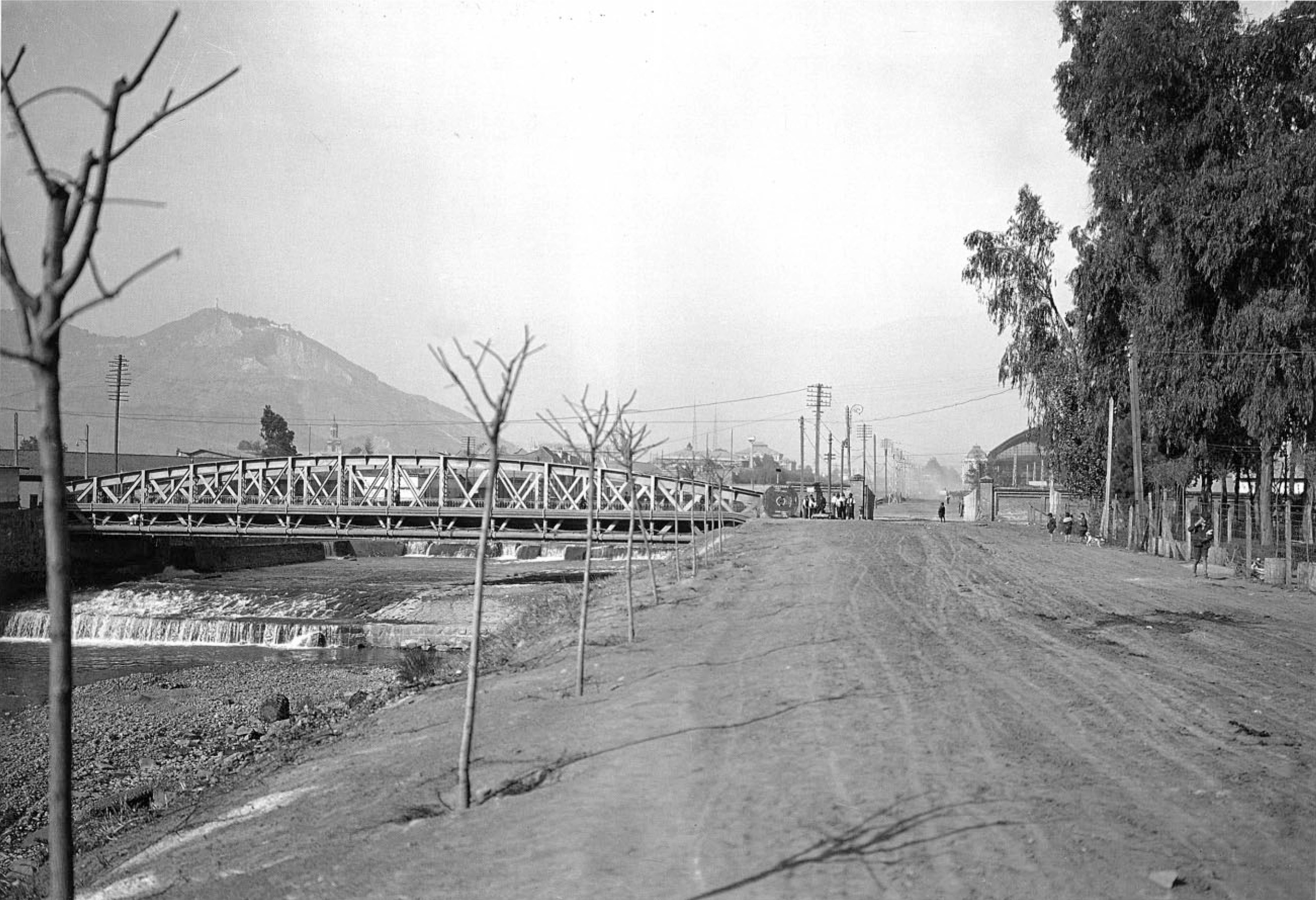 Enterreno - Fotos históricas de chile - fotos antiguas de Chile - Puente Manuel Rodríguez, 1928