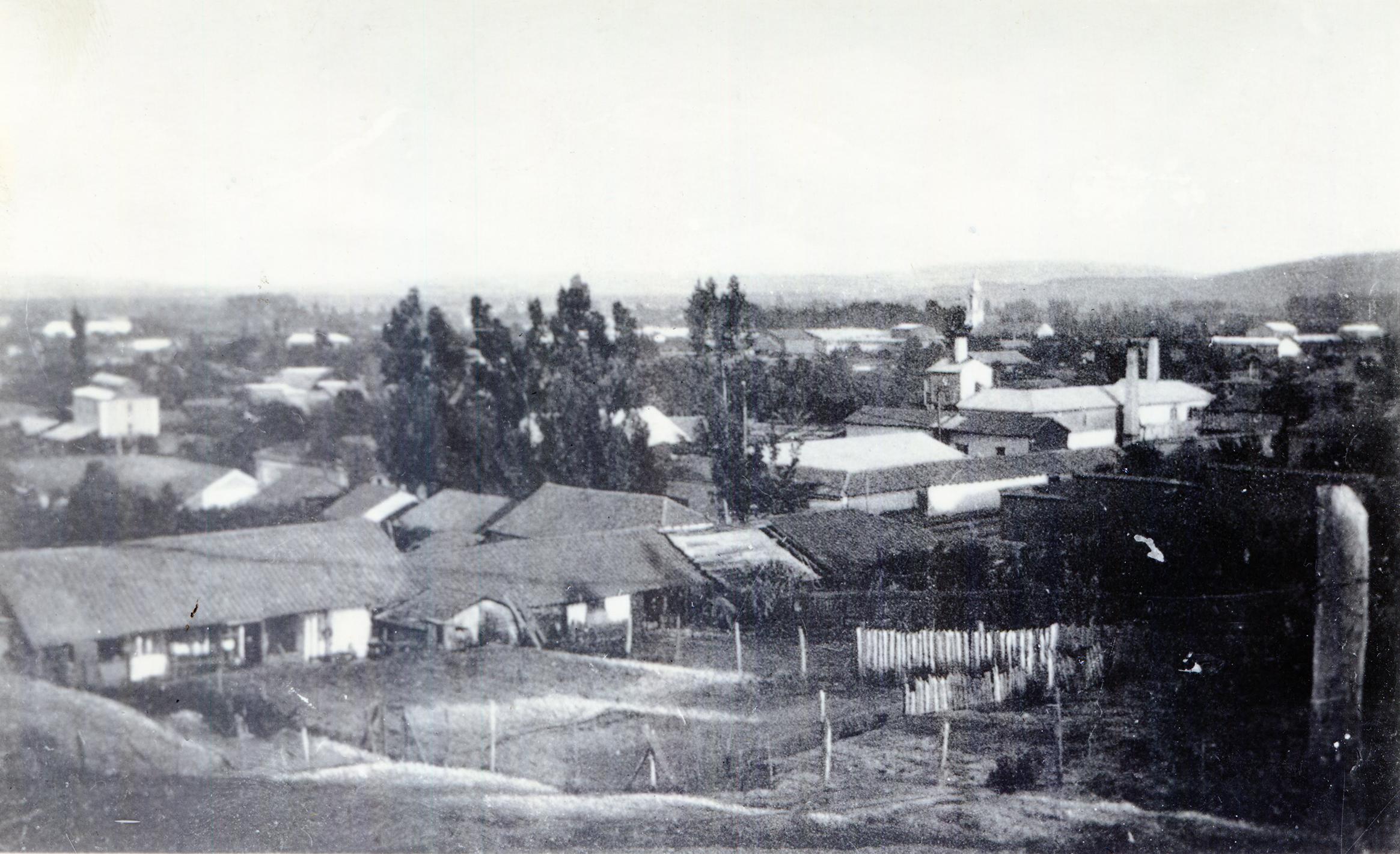 Enterreno - Fotos históricas de chile - fotos antiguas de Chile - Angol desde el cañón, 1915