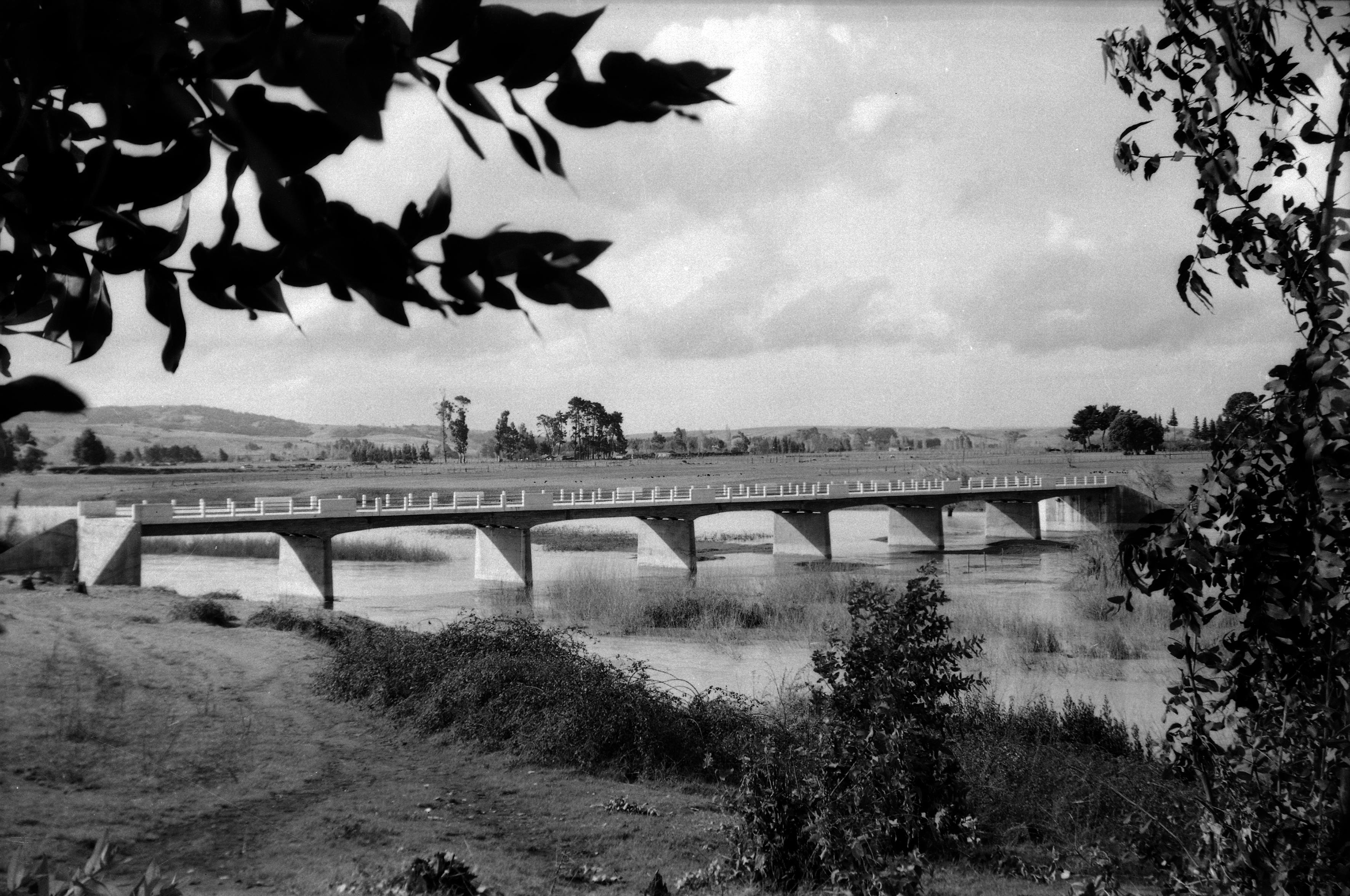 Enterreno - Fotos históricas de chile - fotos antiguas de Chile - Puente Vergara de angol en 1948
