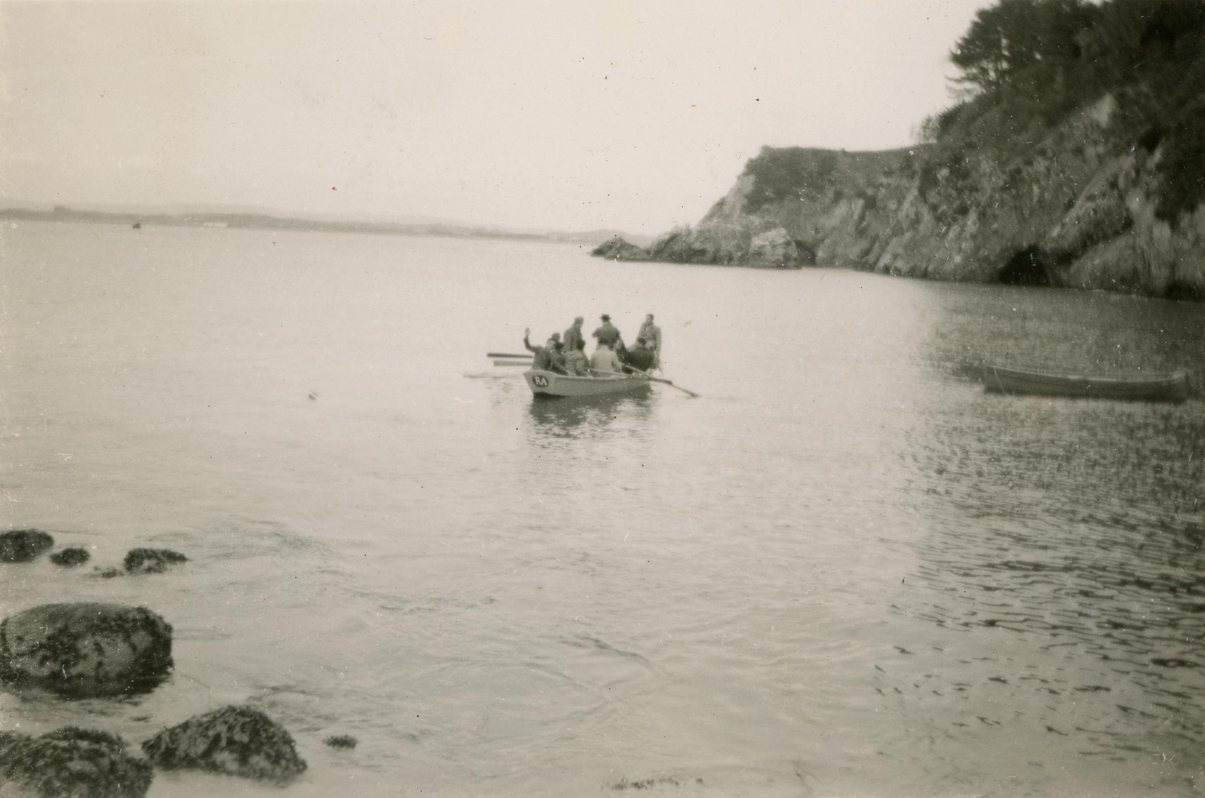 Enterreno - Fotos históricas de chile - fotos antiguas de Chile - Playa de Ramuntcho en 1949