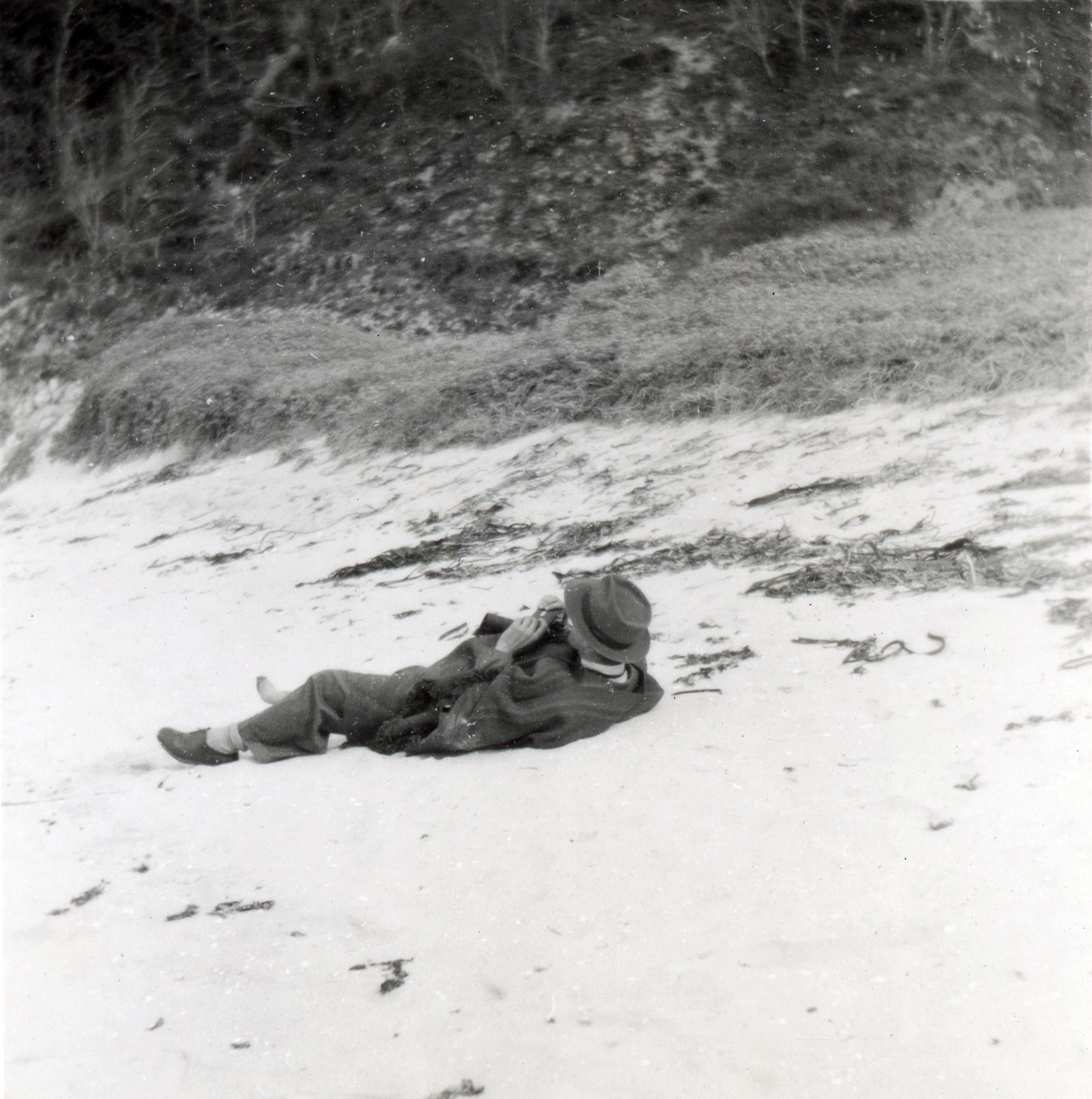 Enterreno - Fotos históricas de chile - fotos antiguas de Chile - Playa Ramuntcho en 1949