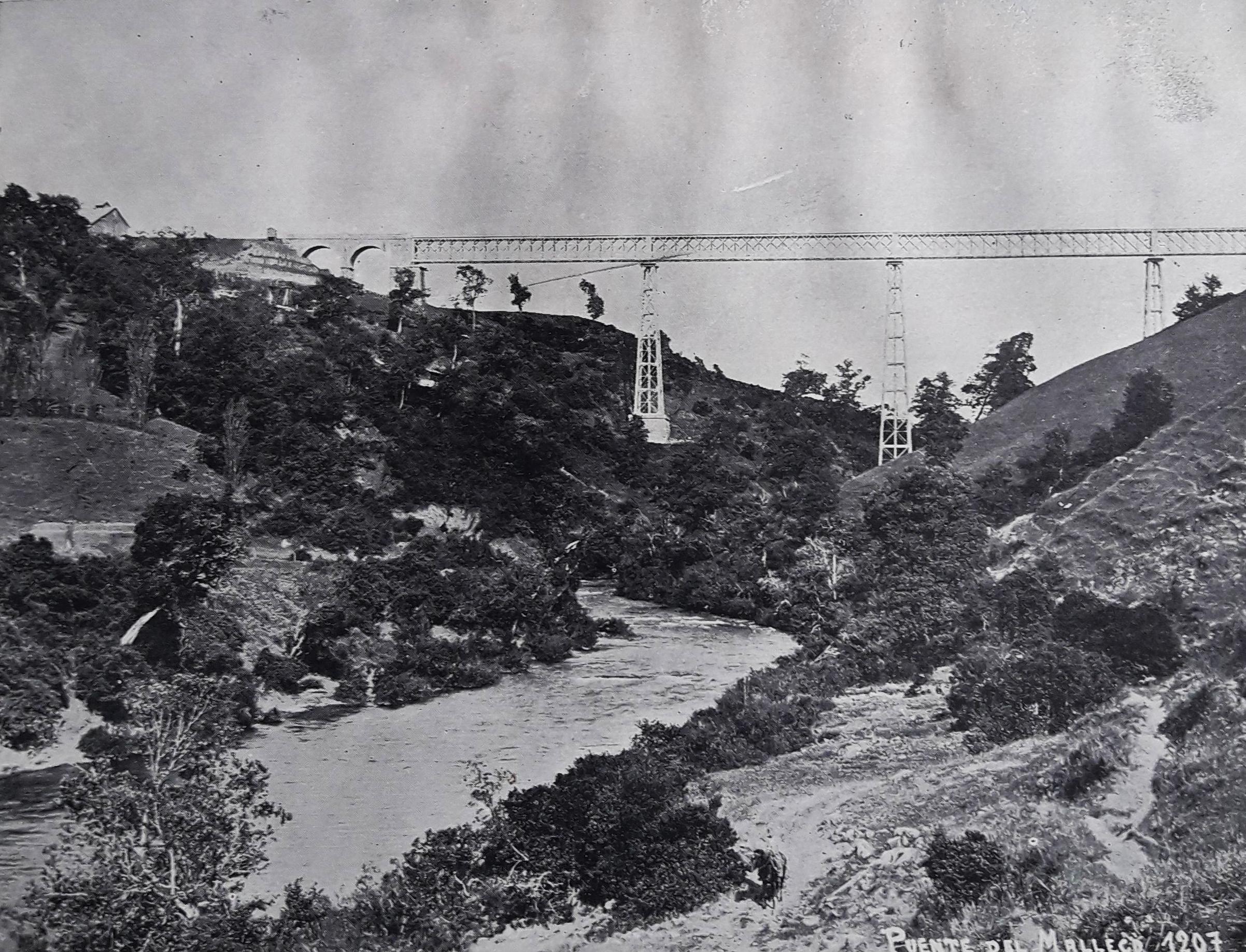 Enterreno - Fotos históricas de chile - fotos antiguas de Chile - Viaducto y Río Malleco en 1931
