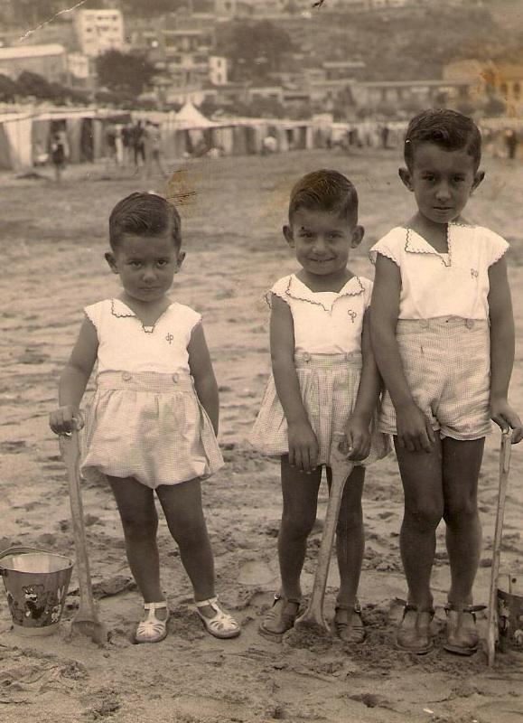 Enterreno - Fotos históricas de chile - fotos antiguas de Chile - Verano en Cartagena en 1939