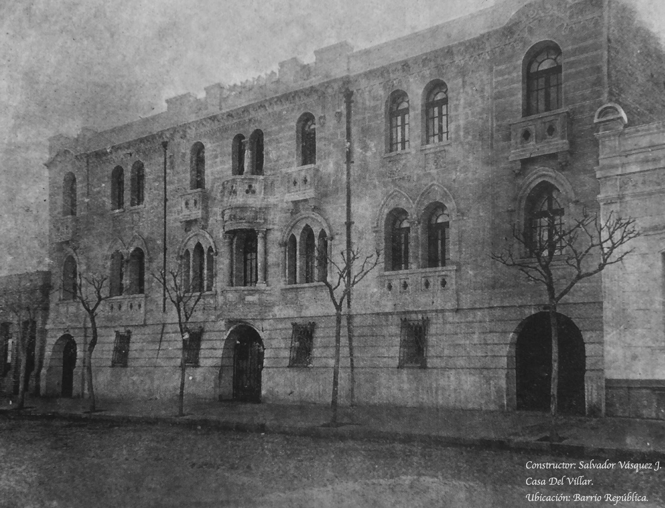 Enterreno - Fotos históricas de chile - fotos antiguas de Chile - Casa del Villar de Santiago en 1923
