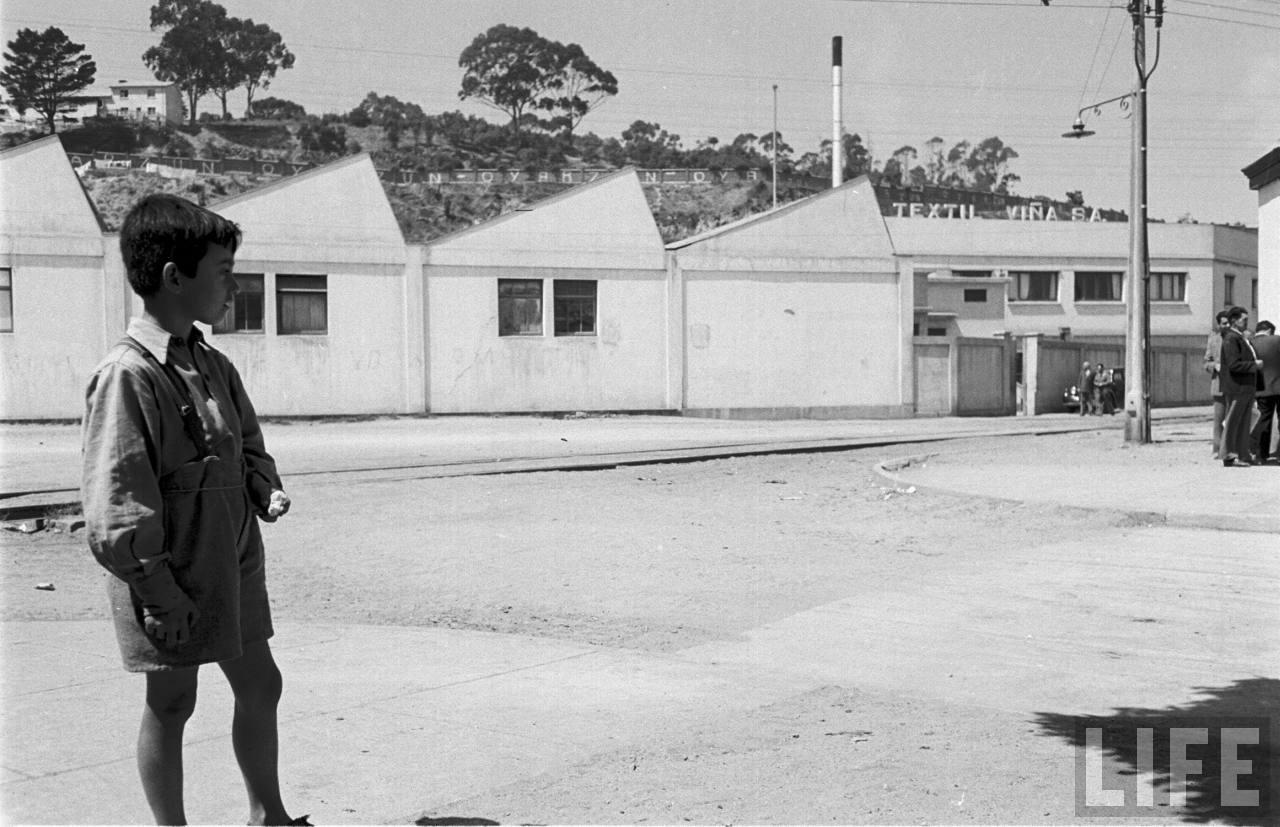 Enterreno - Fotos históricas de chile - fotos antiguas de Chile - Textil Viña, 1950