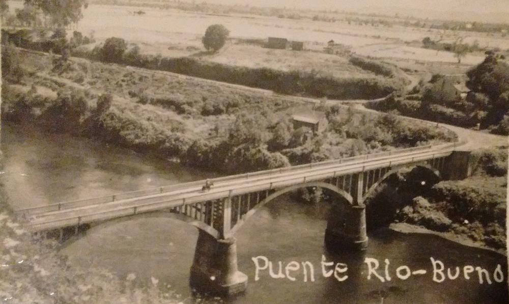 Enterreno - Fotos históricas de chile - fotos antiguas de Chile - Puente Río Bueno en 1960