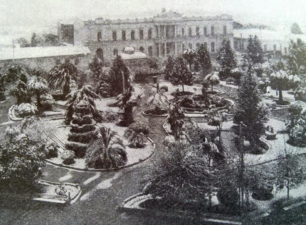 Enterreno - Fotos históricas de chile - fotos antiguas de Chile - Plaza de Curico nevada en 1914