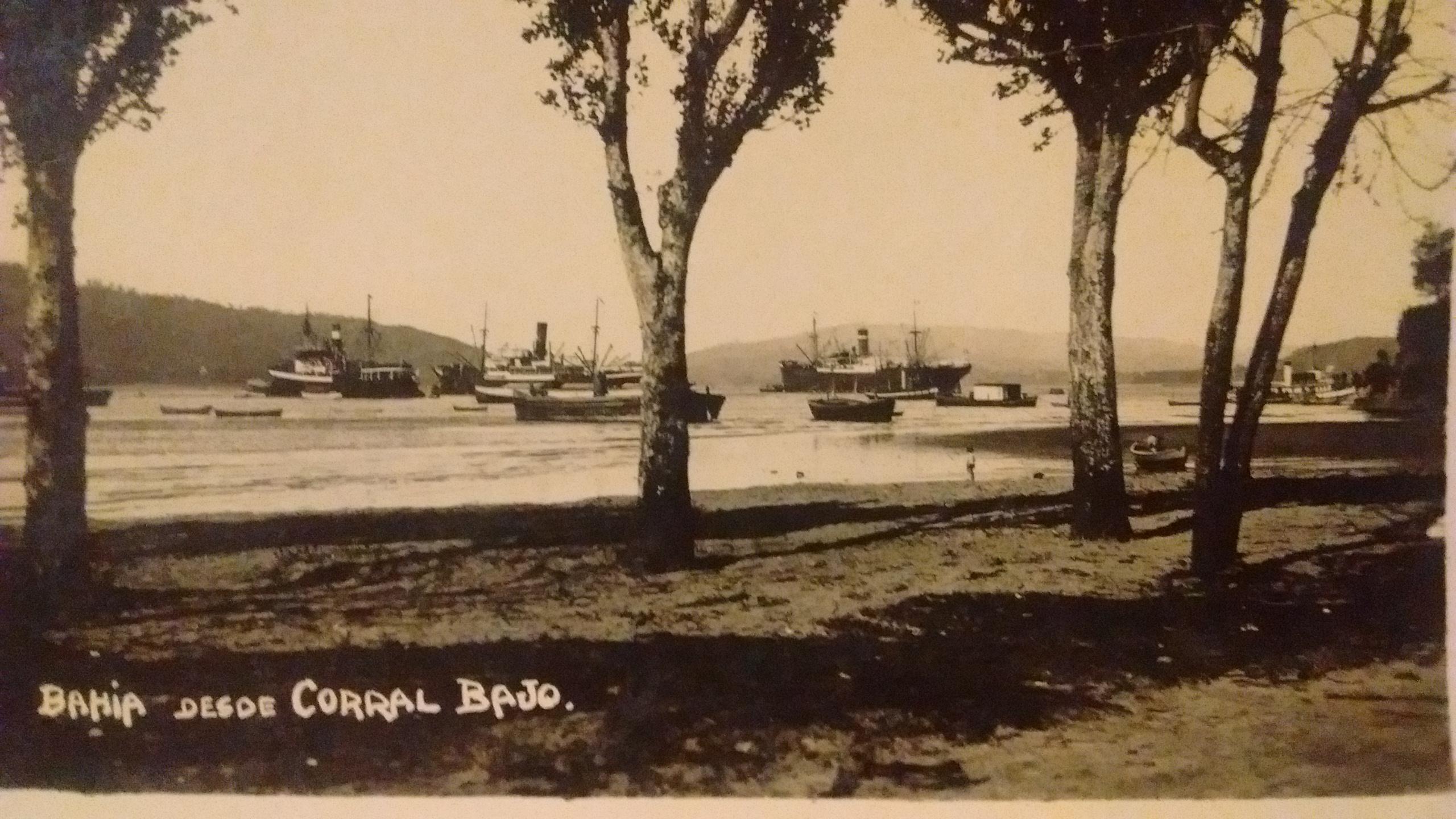 Enterreno - Fotos históricas de chile - fotos antiguas de Chile - Bahía Corral en 1933