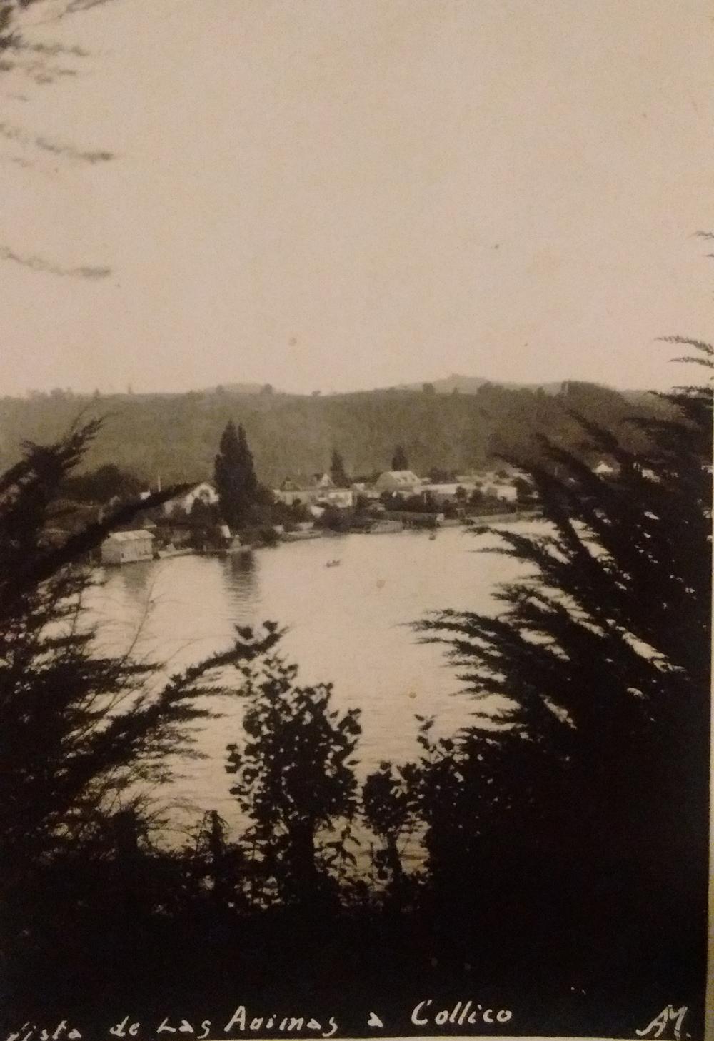 Enterreno - Fotos históricas de chile - fotos antiguas de Chile - Collico, Valdivia en 1945