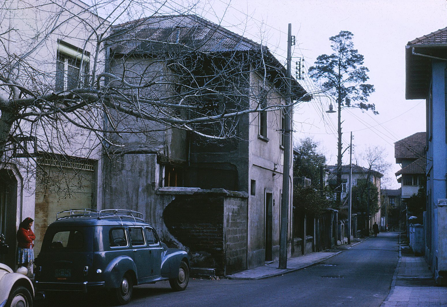 Enterreno - Fotos históricas de chile - fotos antiguas de Chile - Calle Granaderos, Providencia, 1959