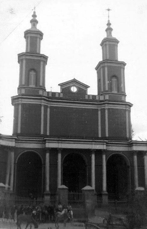 Enterreno - Fotos históricas de chile - fotos antiguas de Chile - Iglesia de Andacollo en1961