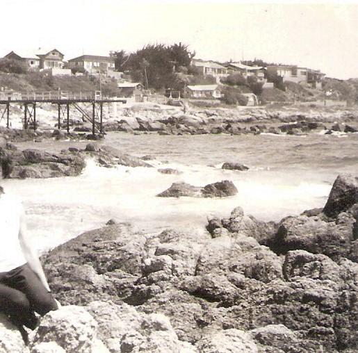 Enterreno - Fotos históricas de chile - fotos antiguas de Chile - El Quisco,  1961