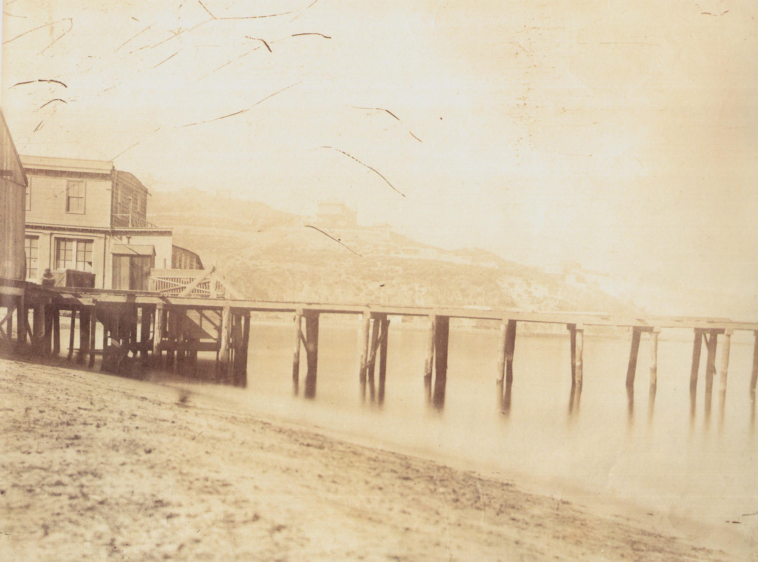 Enterreno - Fotos históricas de chile - fotos antiguas de Chile - Vista del Balneario de Valparaíso,  1864