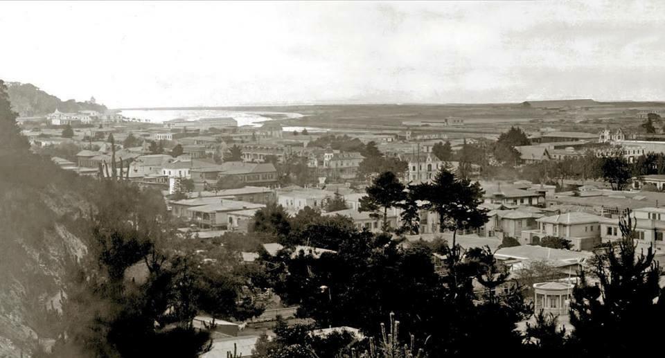Enterreno - Fotos históricas de chile - fotos antiguas de Chile - Borde costero y plan de Viña del Mar, 1920