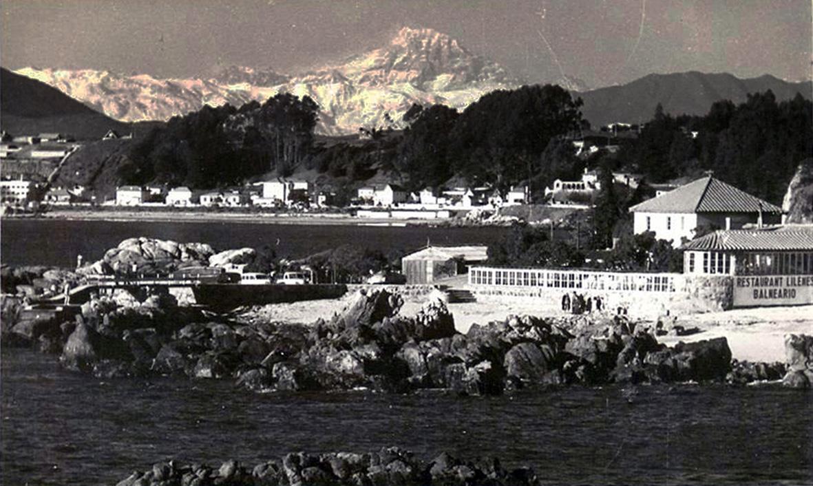 Enterreno - Fotos históricas de chile - fotos antiguas de Chile - Monte Aconcagua desde Concón en 1940