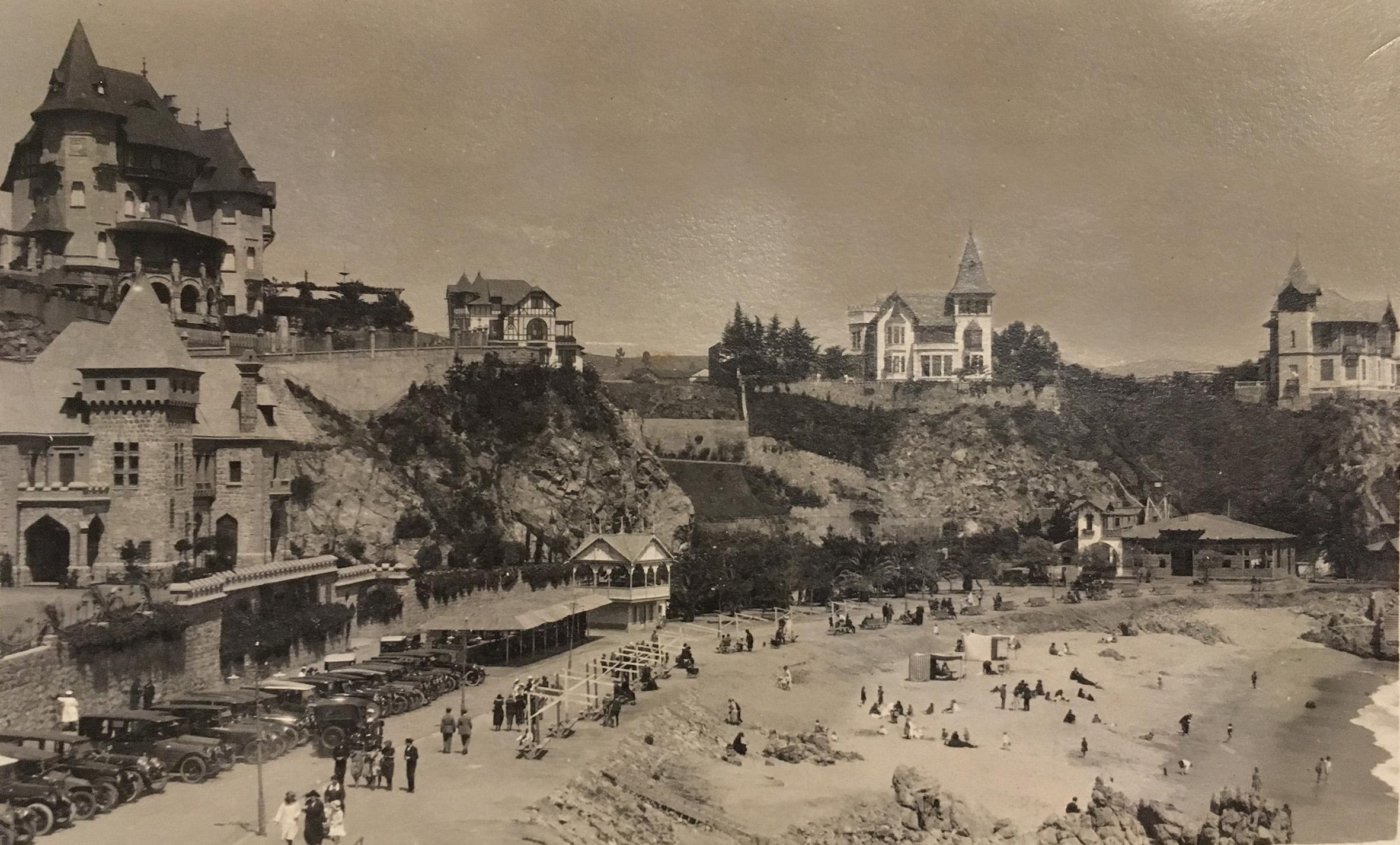 Enterreno - Fotos históricas de chile - fotos antiguas de Chile - Playa Miramar de Viña del Mar en 1922