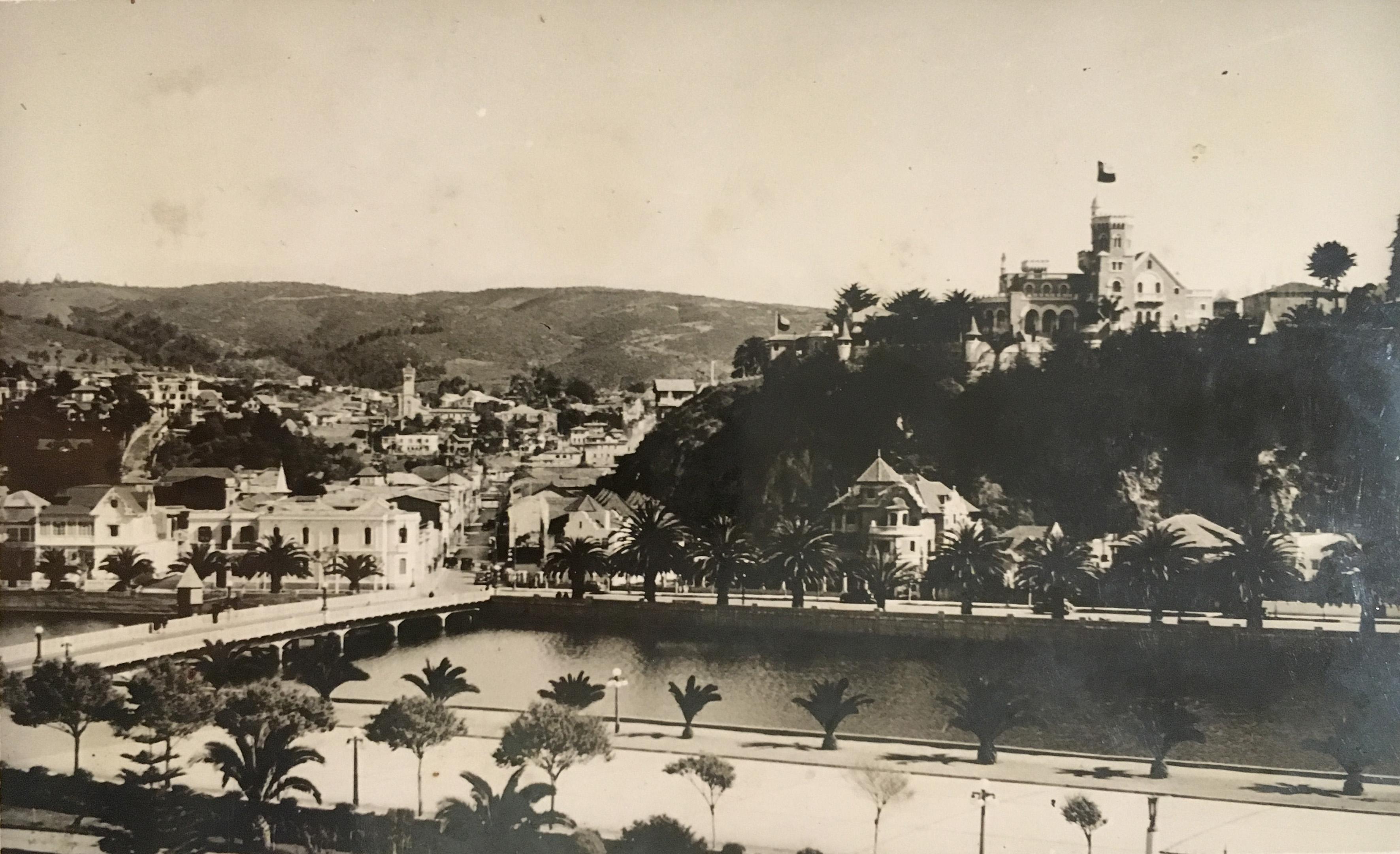 Enterreno - Fotos históricas de chile - fotos antiguas de Chile - Palacio Brunet y Estero Marga Marga, 1939