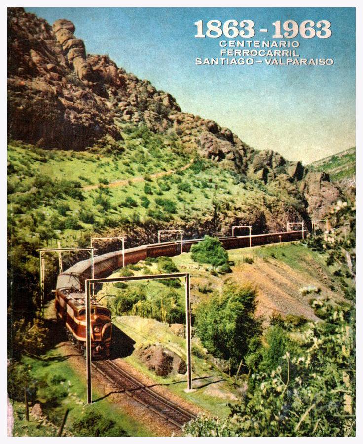 Enterreno - Fotos históricas de chile - fotos antiguas de Chile - Ferrocarril Santiago-Valparaíso, 1963