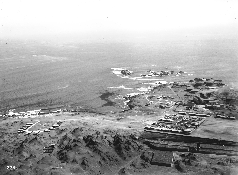 Enterreno - Fotos históricas de chile - fotos antiguas de Chile - Central Termoelectrica en Tocopilla, 1915