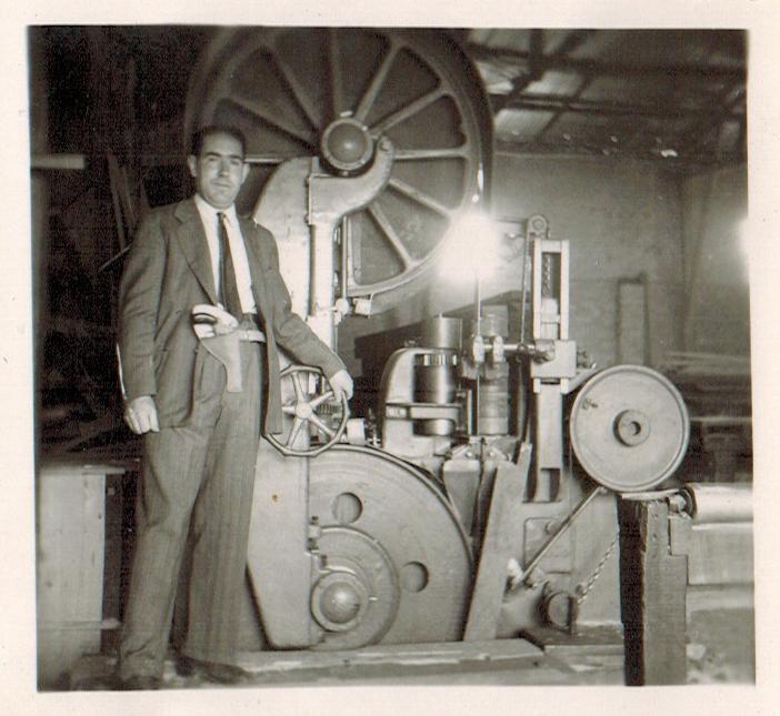 Enterreno - Fotos históricas de chile - fotos antiguas de Chile - Maquinaria en la Central Hidroeléctrica Sauzal, 1945