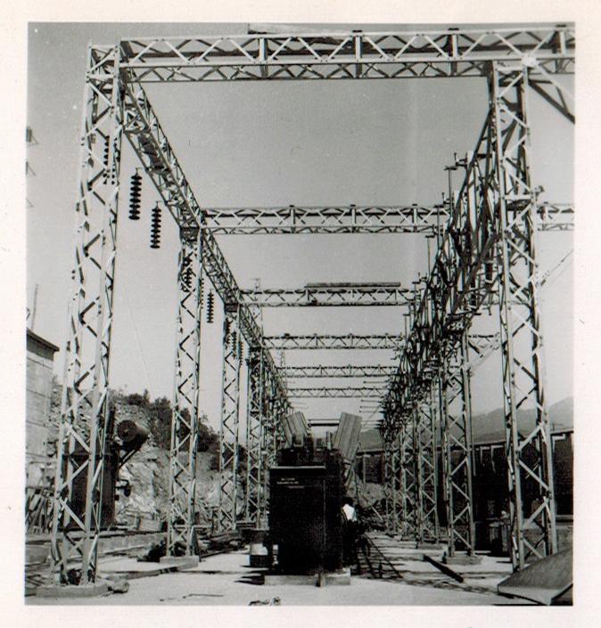 Enterreno - Fotos históricas de chile - fotos antiguas de Chile - Central Hidroeléctrica Sauzal en 1945
