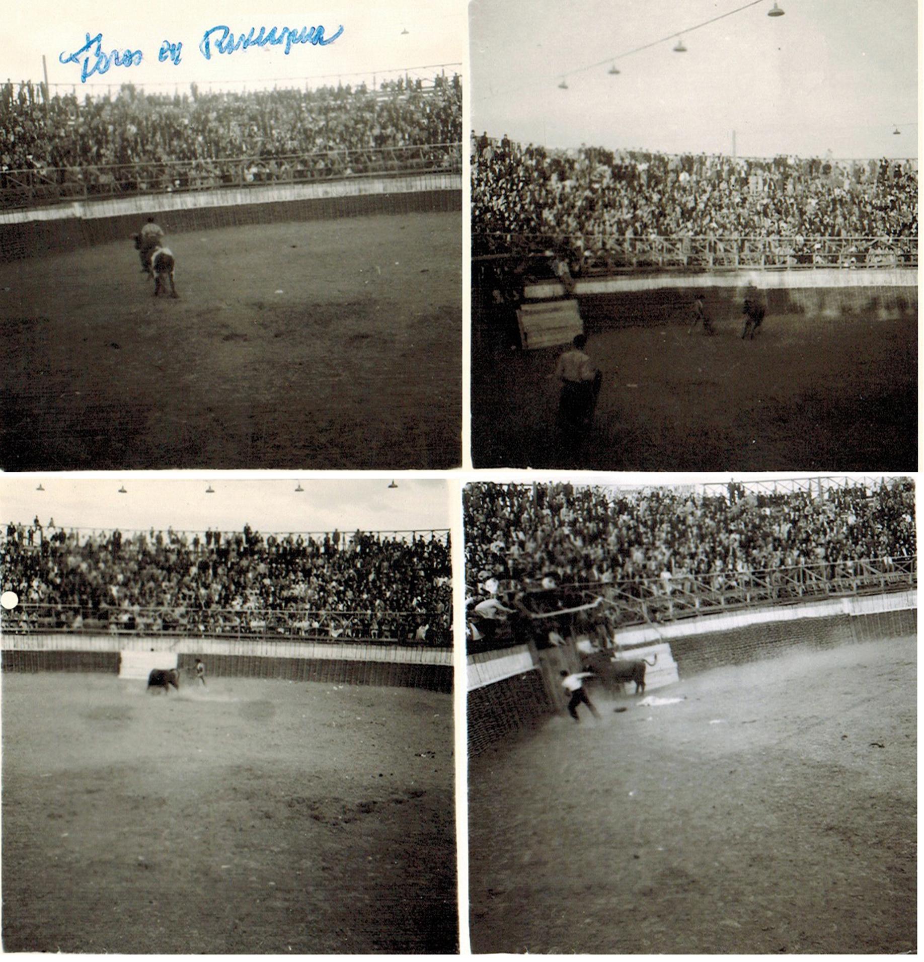 Enterreno - Fotos históricas de chile - fotos antiguas de Chile - Corridas de toros en Rancagua, 1945
