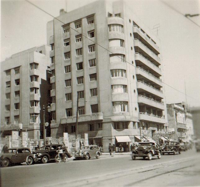 Enterreno - Fotos históricas de chile - fotos antiguas de Chile - Edificio Ministerio de vivienda y Urbanismo en 1945