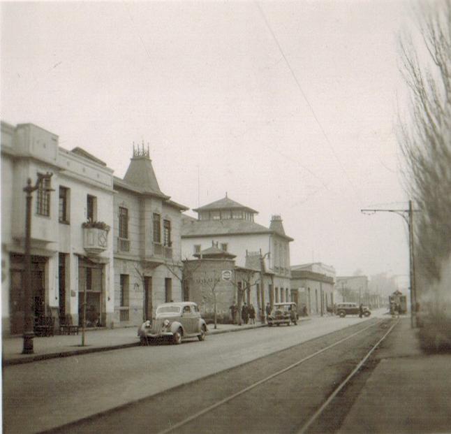 Enterreno - Fotos históricas de chile - fotos antiguas de Chile - Alameda de Rancagua en 1945