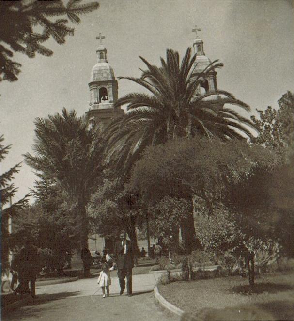 Enterreno - Fotos históricas de chile - fotos antiguas de Chile - Catedral de Rancagua en 1945