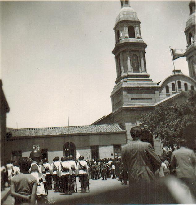 Enterreno - Fotos históricas de chile - fotos antiguas de Chile - Llegada de la Virgen del Carmen a la Catedral de Rancagua