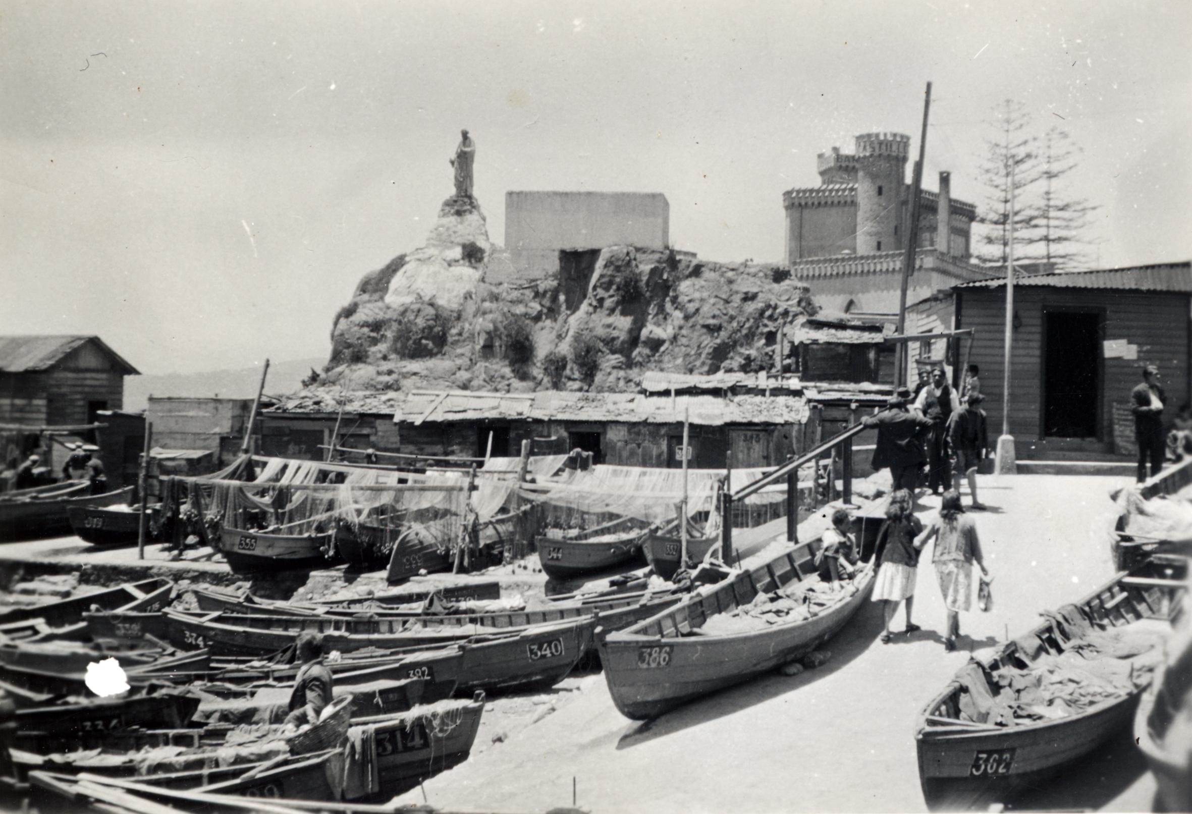 Enterreno - Fotos históricas de chile - fotos antiguas de Chile - Caleta El Membrillo en 1948