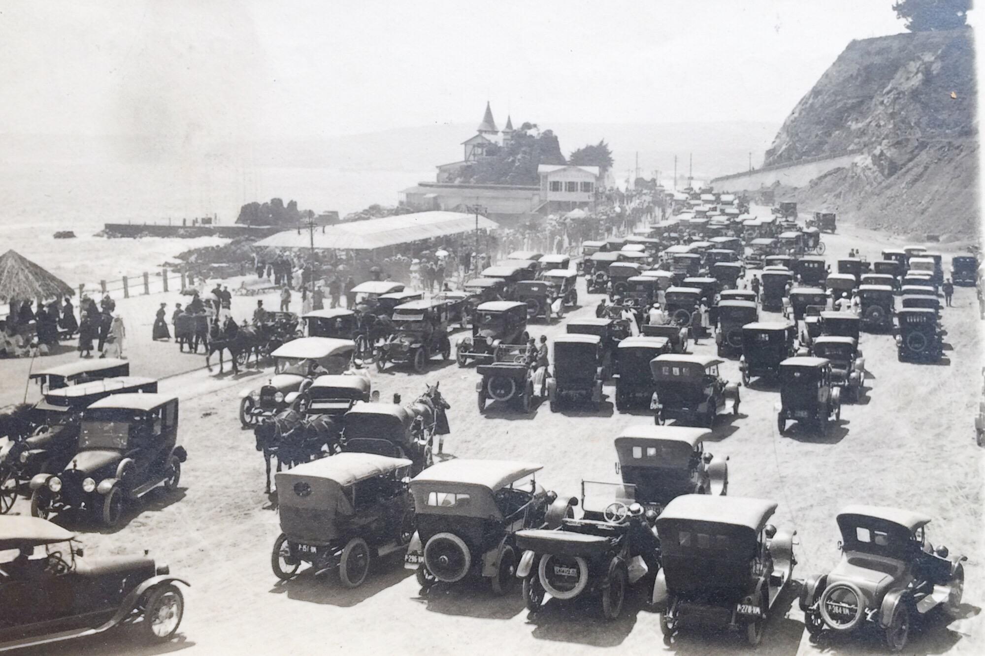 Enterreno - Fotos históricas de chile - fotos antiguas de Chile - Sector miramar de Viña de Mar en 1930