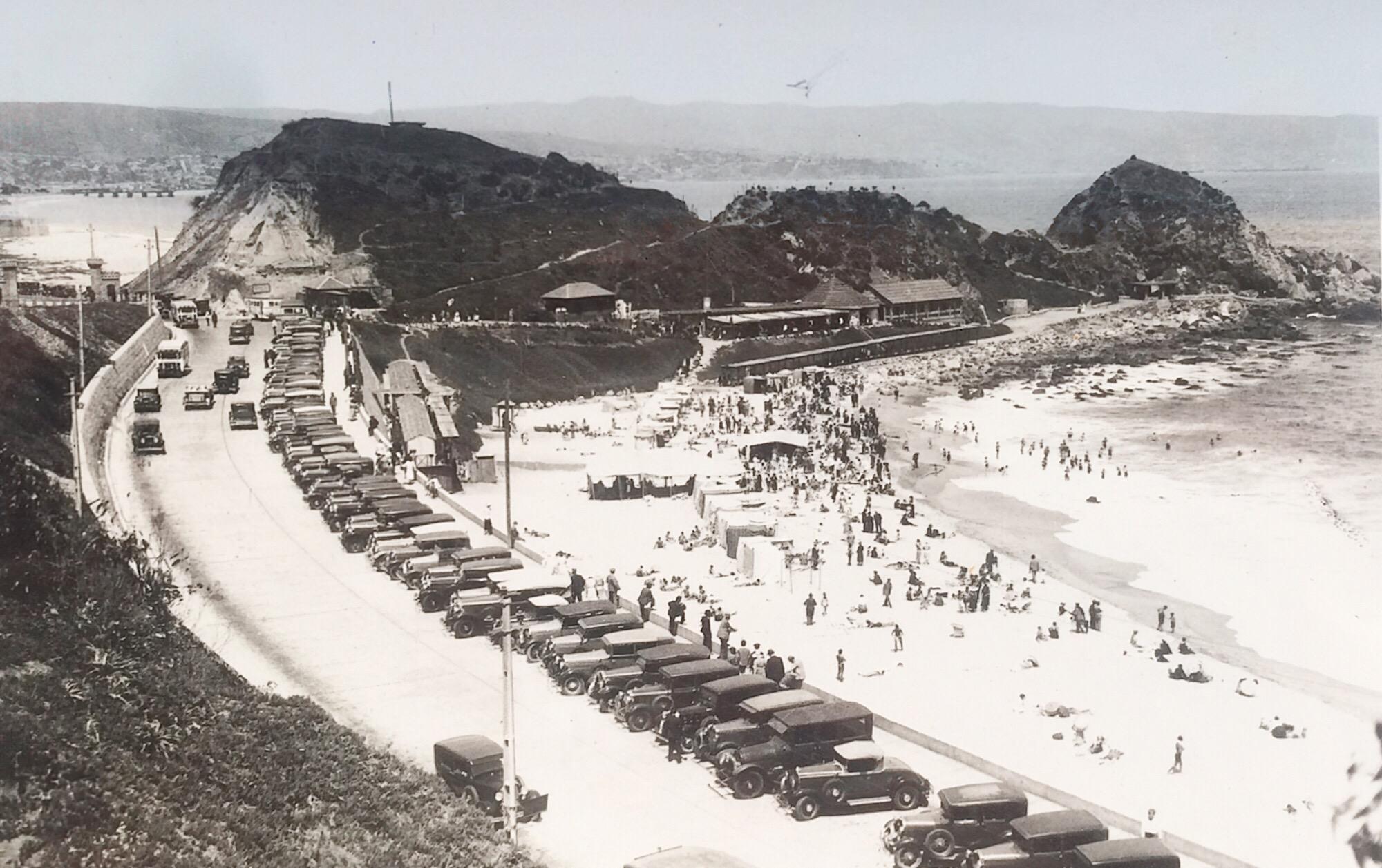 Enterreno - Fotos históricas de chile - fotos antiguas de Chile - Playa Las Salinas en 1930