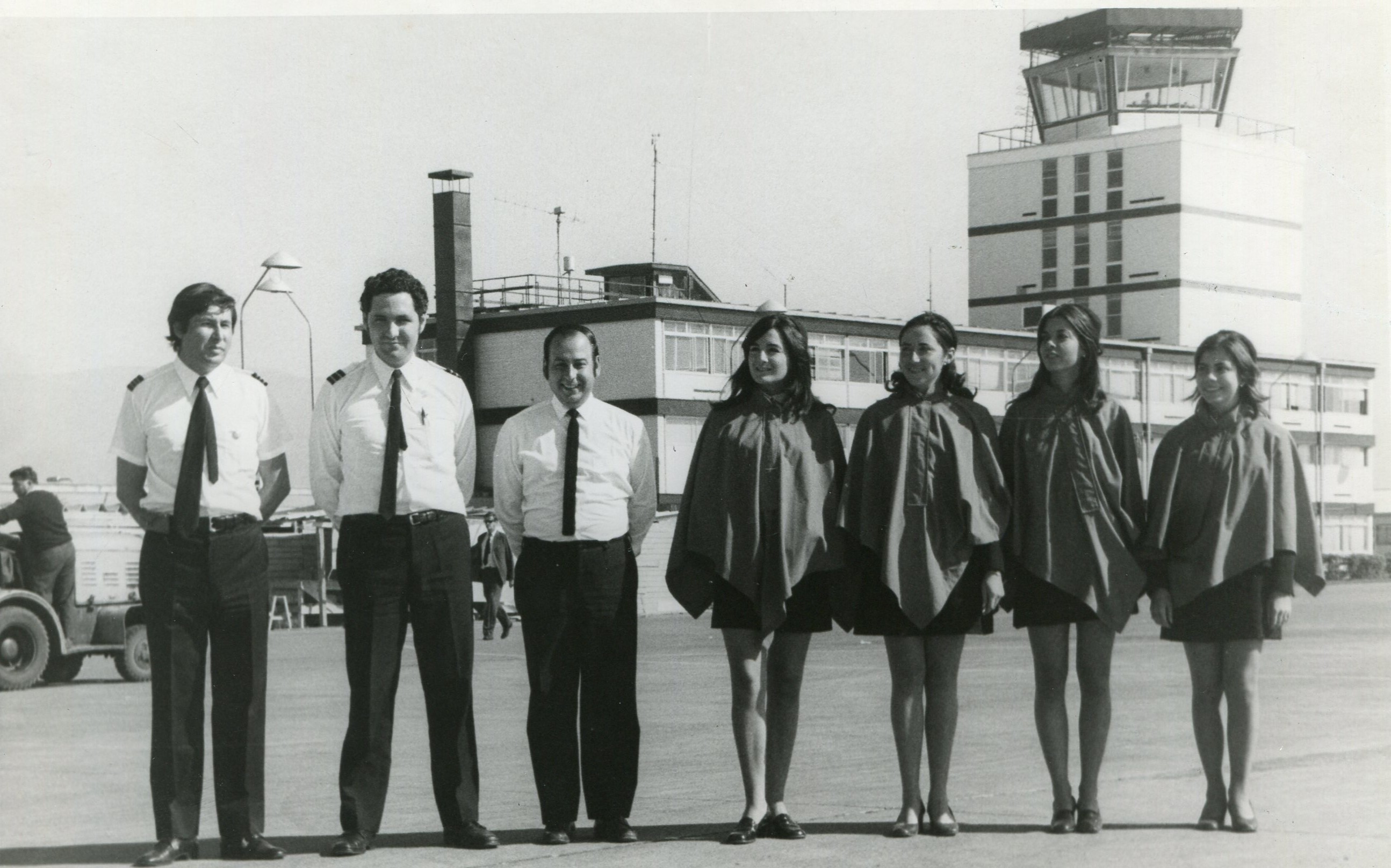 Enterreno - Fotos históricas de chile - fotos antiguas de Chile - Aeropuerto Pudahuel en 1969