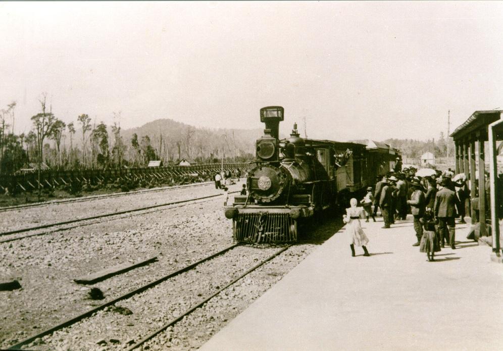 Enterreno - Fotos históricas de chile - fotos antiguas de Chile - Estación FFCC Quilpué en 1888