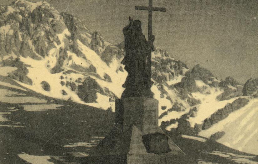 Enterreno - Fotos históricas de chile - fotos antiguas de Chile - Cristo Redentor de Los Andes en 1937