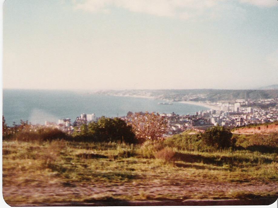 Enterreno - Fotos históricas de chile - fotos antiguas de Chile - Viña del Mar desde subida Agua Santa en 1980