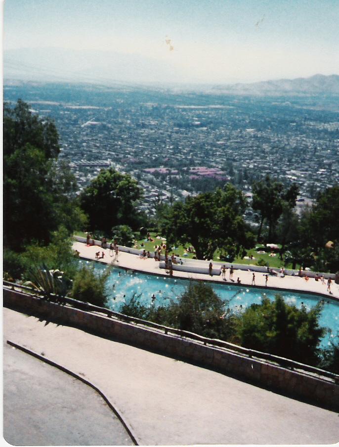 Enterreno - Fotos históricas de chile - fotos antiguas de Chile - Vista desde el teleférico de Santiago en 1981