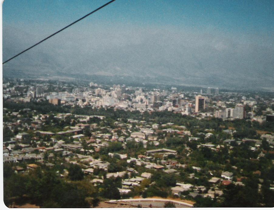 Enterreno - Fotos históricas de chile - fotos antiguas de Chile - Santiago desde el teleférico del Cerro San Cristóbal